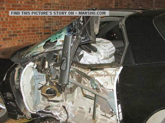 Pontiac Firebird Trans Am Car Crash At High Speed