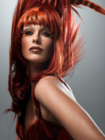 Caridee with wild red hair