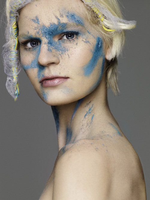 Celia s powder photoshoot in blue on america s next top model