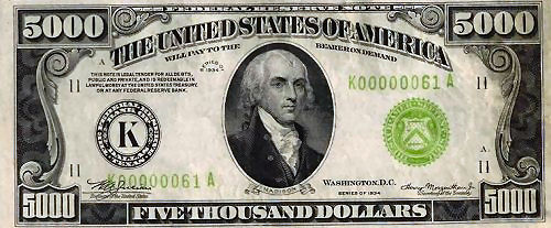What does a two dollar bill look like