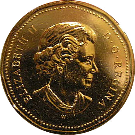 Loonie One Dollar Canadian Coin Front