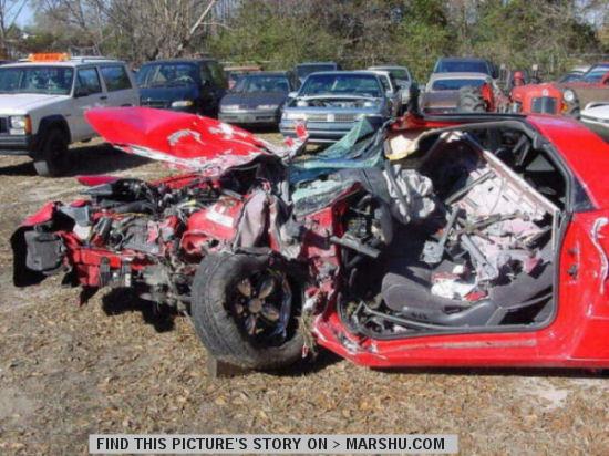 Pontiac Firebird Formula Car Crash Accident