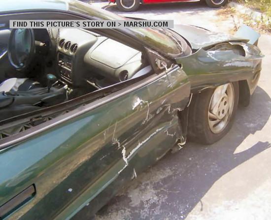 Pontiac Firebird 1994 Car Accident Hit At Speed