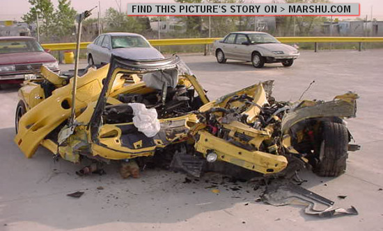 Yellow Paint Car Accident