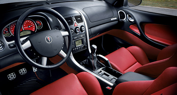 pontiac gto inside cabin red leather