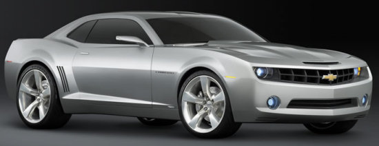 side view of the chevy camaro concept car