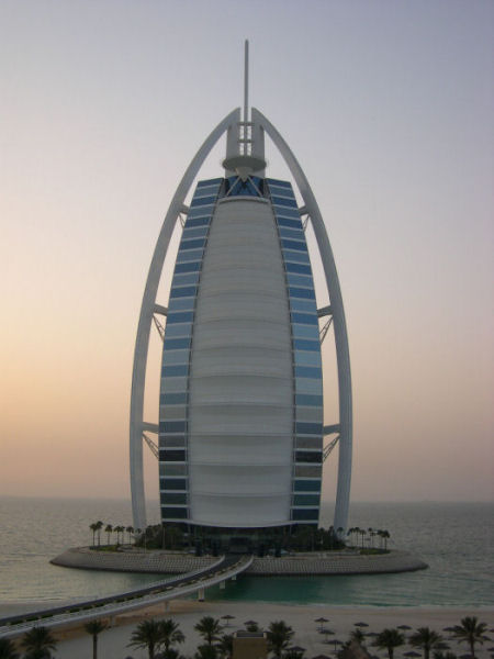 Burj al arab famous sailboat hotel in dubai arab emirates Burj al arab architecture