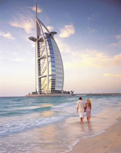 Dubai Burj Al Arab Hotel Beach View