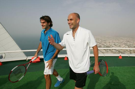 Tennis Players In Burj Al Arab