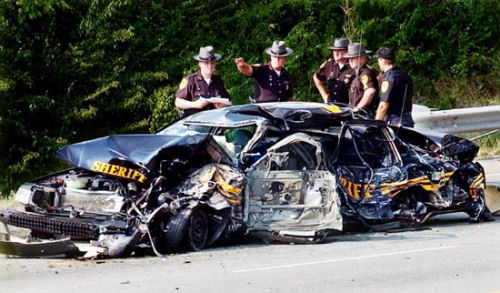 police cruisers crashes police car accidents crashed cop cars