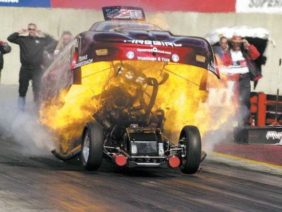 del worsham funny car accident with engine explosion
