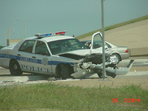police car accident