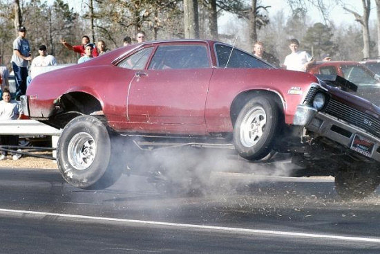 racetrack car accident