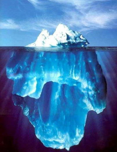 iceberg below water picture