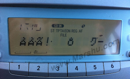 Toyota Car CD Stereo Radio Player Frozen Blank Screen Fix Picture